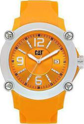 CAT Ranger Silver Case Orange Dial And Silicon Strap P234124434