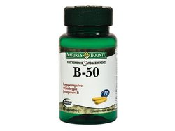 Nature's Bounty Vitamin B-50 Complex 60 Ταμπλέτες