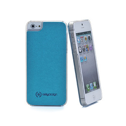 Celly PU Caffe Plus Light Blue (iPhone 5/5s/SE)