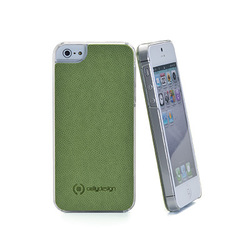 Celly PU Caffe Plus Green (iPhone 5/5s/SE)