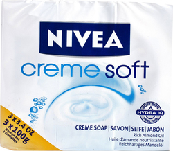Nivea Cream Soft Soap 3x100gr