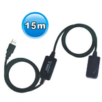 Viewcon USB 2.0 Cable USB-A male - USB-A female 15m (VE717)