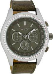 Oozoo Timepieces 45mm Grey Dial - Leather Strap C6167
