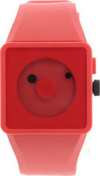 Nixon 4 Newton Red Rubber Strap A116-1200