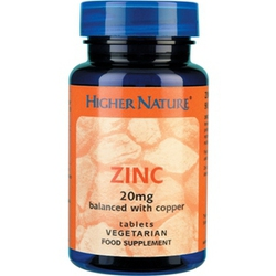 Higher Nature Zinc Powder 20mg 48gr