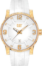 Caterpillar Bold Gold White Rubber Strap NJ23129238