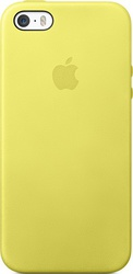 Apple Back Cover Leather Yellow (iPhone 5/5s/SE)