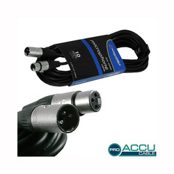 Accu-Cable Microphone Cable XLR male - XLR female 10m (AC-PRO-XMXF/10)