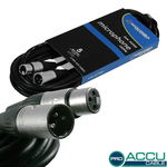 Accu-Cable Microphone Cable XLR male - XLR female 5m (AC-PRO-XMXF/5)