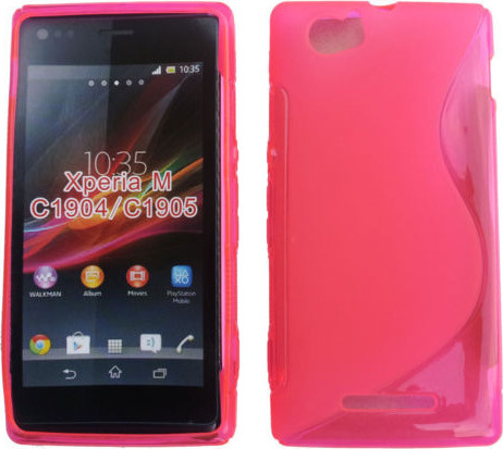 new style 55ff3 cb7e4 Sony Xperia M C1905 Gel TPU Case S-Line Pink OEM