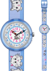 FlikFlak Cuty Cats In Blue Fabric Strap ZFBNP013