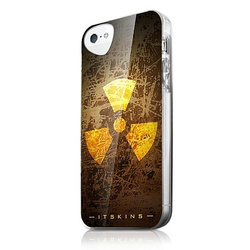 ITSkins Back Cover Phantom Fashionista Yellow - Brown (iPhone 5/5s/SE)