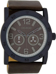 Oozoo 47mm Unisex Brown Leather Strap C6428