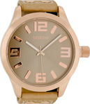 Oozoo 51mm Unisex Sand Leather Strap C1101