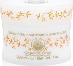 Roger & Gallet Ginger Rich Nourishing Body Cream Pot 200ml