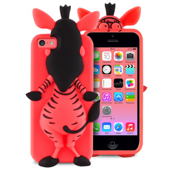 Puro Zebra 3D Silicon Cover Pink (iPhone 5C)