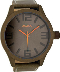 Oozoo 51mm Unisex Brown Leather Strap C6403