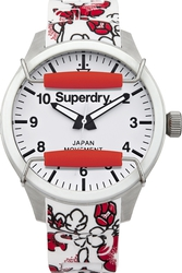 Superdry Scuba Floral White Rubber Strap SYL138RF