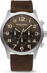 Rodania Energy Power Brown Leather Chrongraph 2611625