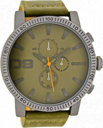 Oozoo Large Timepieces Khaki Leather Strap C6654