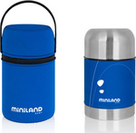 Miniland Food Soft Thermo Blue 600ml