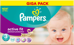 Pampers Active Fit Giga Pack No 3 (4-9Kg) 123τμχ