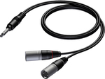 Adam Hall Audio Cable 2x XLR male - 6.3mm Stereo 1.5m (KCCAB733150)