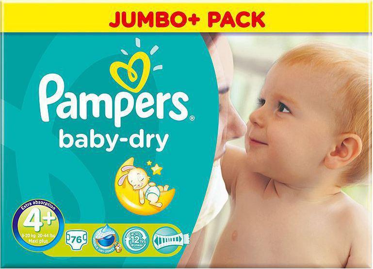 Pampers Baby Dry Jumbo Pack No 4+ (9-20Kg) 76τμχ 4f6355045c4