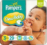 Pampers New Baby No 3 (4-7Kg) 29τμχ