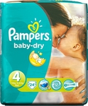 Pampers Baby Dry No 4 (7-18Kg) 24τμχ