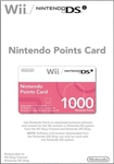 Nintendo 1000 Points Card