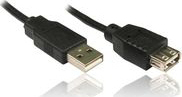 VCOM USB 2.0 Cable USB-A male - USB-A female 1.5m (CAB-017-1.5)