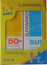 Synchroline Sunwards Face Cream SPF50 50ml + Δώρο Face After Sun 50ml