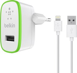Belkin Boost Up Home Apple Lightning Cable & Wall Adapter Λευκό (F8J125VF04-WHT)