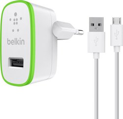 Belkin Home Wall Adapter & micro USB Cable Λευκό (F8M667VF04-WHT)