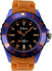 Colori Unisex ρολόι Colour Combo Orange Silicon Strap COL298