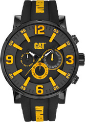 CAT Bold Multifunction Black Rubber Strap NJ16921137