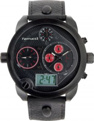 Ferrucci Black Leather Strap FC9547K.06