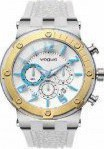 Vogue Feeling Chronograph Two Tone Gold Plated Rubber Strap 17001.5B