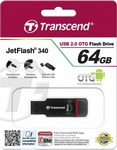 Transcend Jetflash 340 Mobile (OTG) 64GB