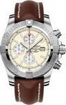 Breitling Super Avenger II Automatic Chronograph Stainless Steel Leather Strap A1337111/G779
