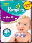 Pampers Active Fit Monthly Pack No 4+ (9-20kg) 140τμχ