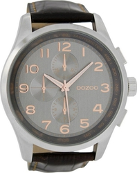 Oozoo Timepieces XXL Black Leather Strap C6766