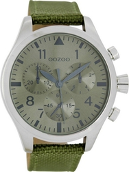 Oozoo Timepieces XL Green Leather Strap C6798