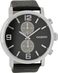 Oozoo Timepieces XXL Black Leather Strap C6789