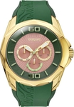 Vogue Candy Gold Green Rubber Strap 17010.6