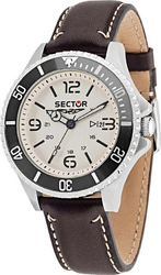 Sector Contemporary 235 Brown Leather Strap R3251161011
