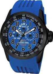Jacques Farel Multifunction Blue Rubber Strap ATV1001DB