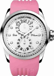 Jacques Farel Multifunction Pink Rubber Strap L6000