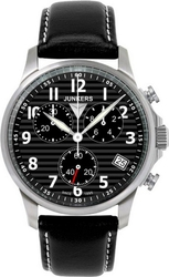 Junkers Tante Ju Chrono Black Leather Strap 6890-2